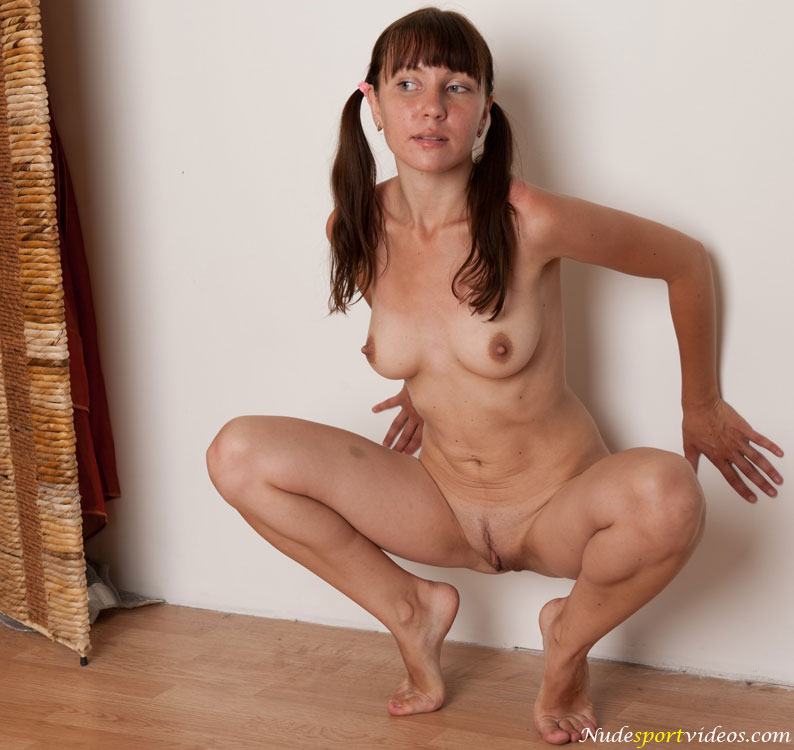 Women sexy squatting nude
